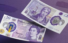 Anh đưa vào lưu hành chính thức tờ tiền mệnh giá 20 bảng bằng polymer