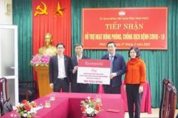 Dịch COVID-19: Agribank ủng hộ Vĩnh Phúc 800 triệu đồng chống dịch
