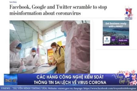 Các hãng công nghệ kiểm soát thông tin sai lệch về virus corona